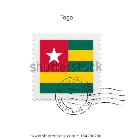 Mail Togo obraz pieczęć Pokaż banderą Zdjęcia stock © perysty