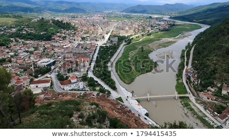 view of berat town center in albania Stock photo © travelphotography