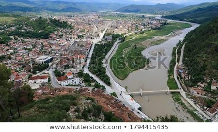 Vue ville centre Albanie Photo stock © travelphotography