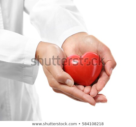 young woman holding a plastic heart stock photo © photography33