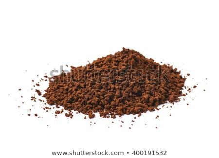 макроса растворимый кофе текстуры здоровья ресторан Сток-фото © deymos