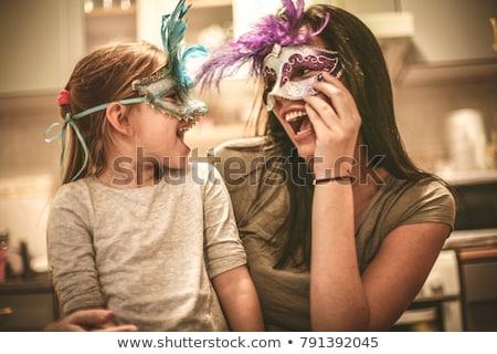 женщину карнавальных маске лице моде волос Сток-фото © Alessandra