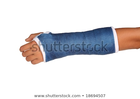 Young Boy With Fractured Hand In Plaster Cast Stock photo © williv