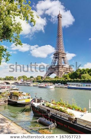 Wonen Parijs Eiffeltoren Frankrijk hemel stad Stockfoto © macsim