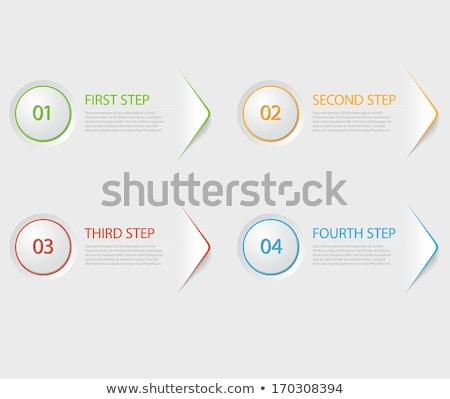 進捗 カード 青 緑 赤 バージョン ストックフォト © vitek38
