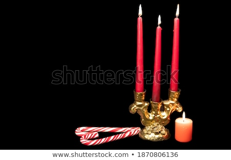 candlestick with red heart shape Stock photo © Grazvydas