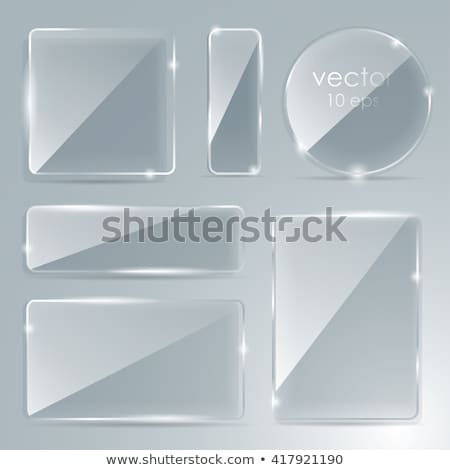 Promotion empty glossy labels set stock photo © make