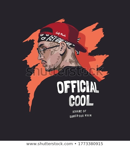 Cool rapper dessin heureux modernes Photo stock © indiwarm