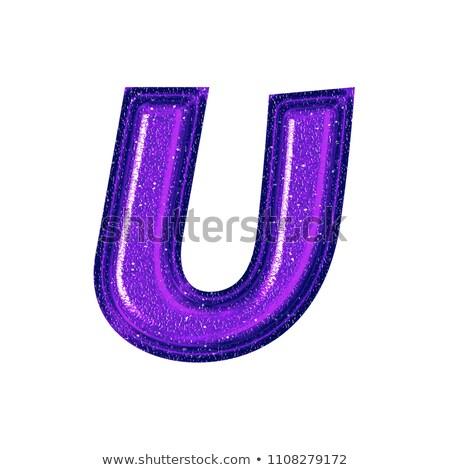 Alfabet szkła błyszczący list wektora streszczenie Zdjęcia stock © gubh83