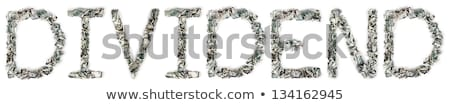 Dividend - Crimped 100$ Bills Stock photo © eldadcarin