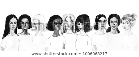 Blond woman is painted in the face Stock photo © Pasiphae