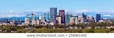 Calgary skyline schemering boeg voorgrond gebouw Stockfoto © jewhyte