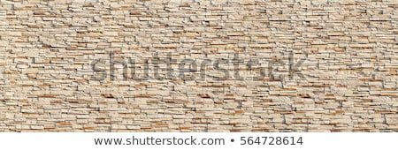 Wall built with pieces of granite Stock photo © victor1978