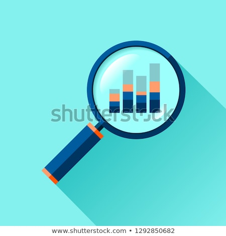Stock photo: Business chart and magnifying glass