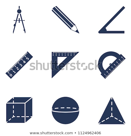 Stencil icons in triangle shape Stock photo © ildogesto