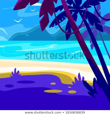 vektor · nyári · szabadság · terv · napszemüveg · kék · tenger - stock fotó © articular