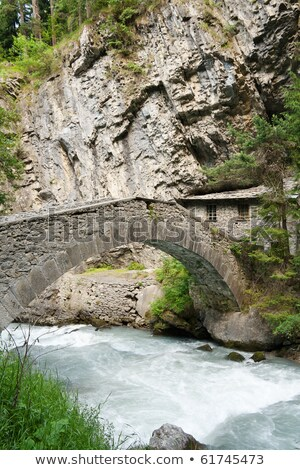 antique bridge in Pre Saint Didier Stock photo © Antonio-S
