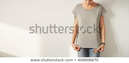 タンク · 先頭 · かなり · ブラウン · 女性 - ストックフォト © victoria_andreas