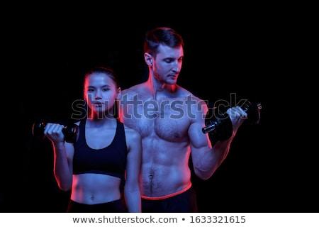 Young Shaped Man Boxing Studio Shot Stock photo © Pressmaster