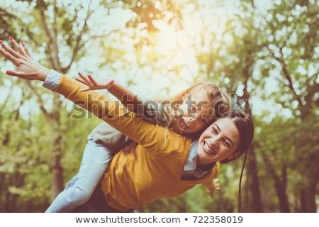 retrato · madre · hija · mujer · fondo - foto stock © zzve