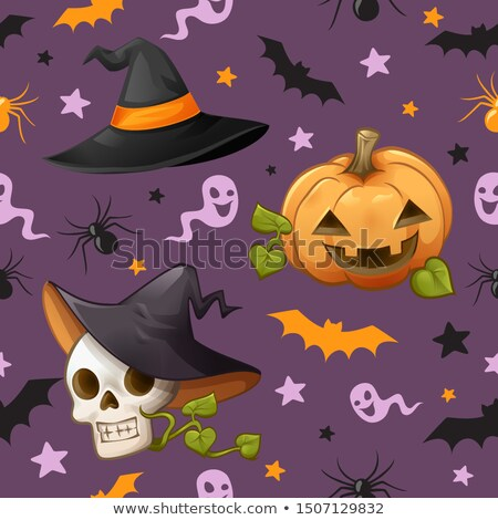 cute skulls seamless pattern stock photo © ekapanova
