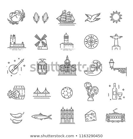 Лиссабон икона город почты вектора Португалия Сток-фото © Myvector