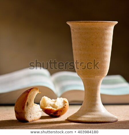 Communion still life calice vin Photo stock © MKucova