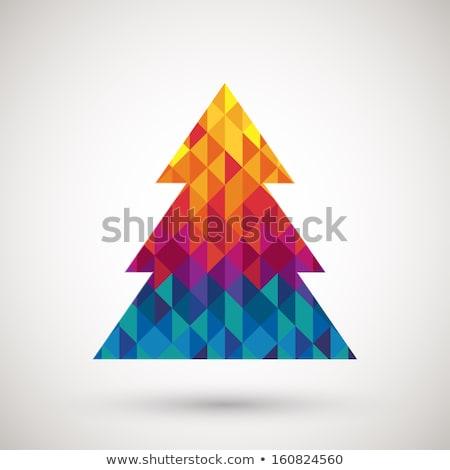 diamond winter greeting card vector illustration stock photo © carodi