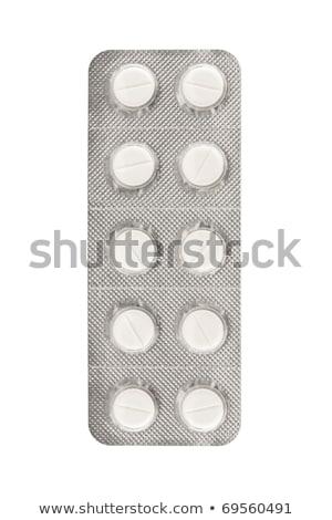 Ver pílula bolha isolado branco médico Foto stock © dacasdo