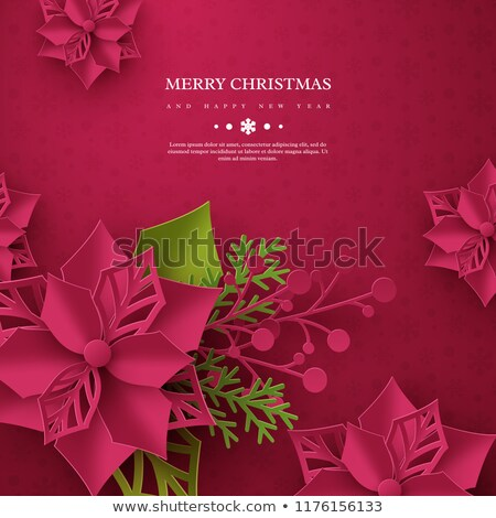 abstract Christmas poinsettias background  Stock photo © marimorena