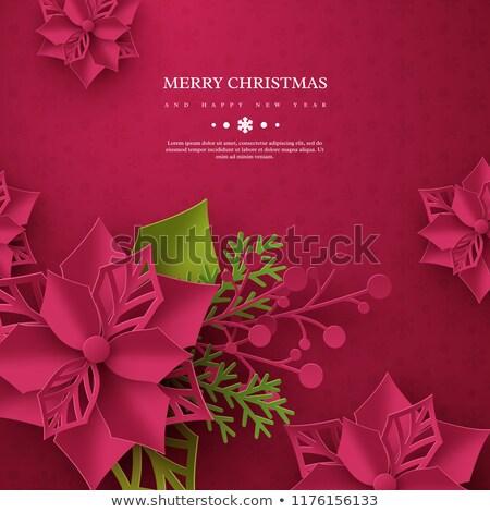 abstract Christmas poinsettias background  stock photo © marimorena