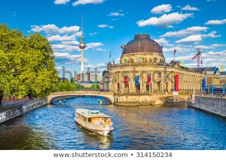 folyó · múzeum · sziget · katedrális · Berlin · éjszaka - stock fotó © anshar