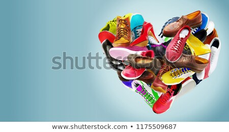 Buty symboliczny serca odizolowany biały kobiet Zdjęcia stock © alekleks