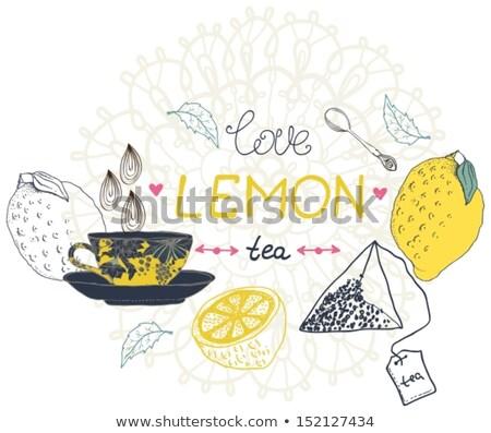 love lemon tea card Stock photo © Elmiko
