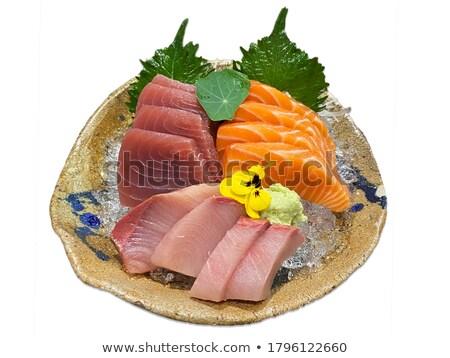 Japanese stile sashimi piatto pesce salute Foto d'archivio © keko64