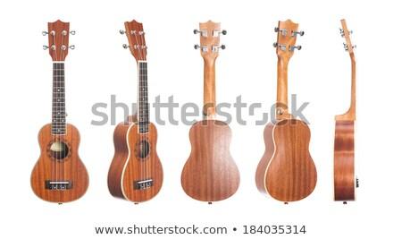 Side View Of Classic Ukulele Hawaiian Guitar Photo stock © Elisanth
