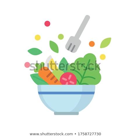 Aperitivo ensalada queso comedor creativa dieta Foto stock © M-studio