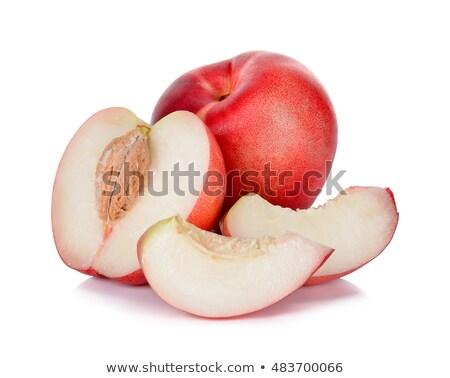 Három friss fehér izolált étel gyümölcs Stock fotó © bloodua