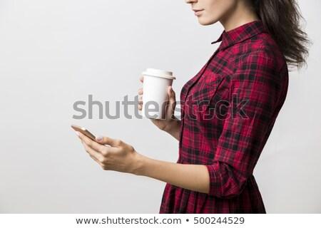 деловая · женщина · рук · изолированный · глядя - Сток-фото © dgilder