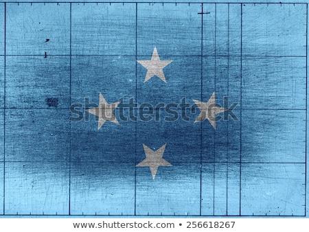 Micronésia bandeira idéia projeto textura Foto stock © kiddaikiddee