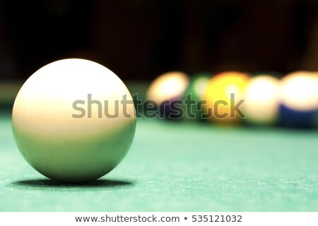 Pool balls scattered on a pool table Stock photo © stryjek
