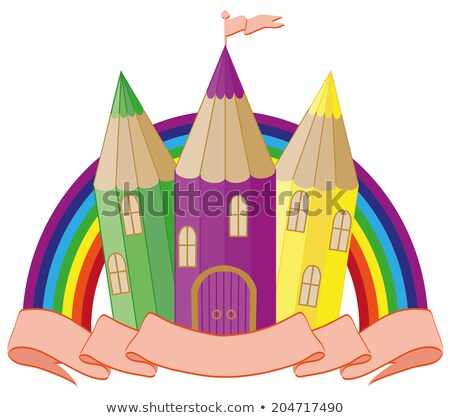 Back to School. fabulous school castle. vector illustration Stock photo © carodi