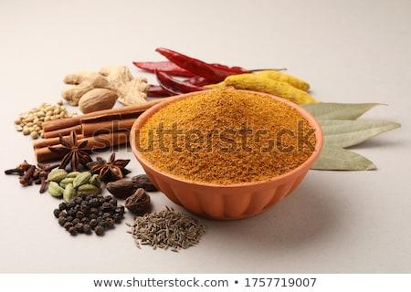 Karışık baharatlar gıda arka plan Hint öğle yemeği Stok fotoğraf © neillangan