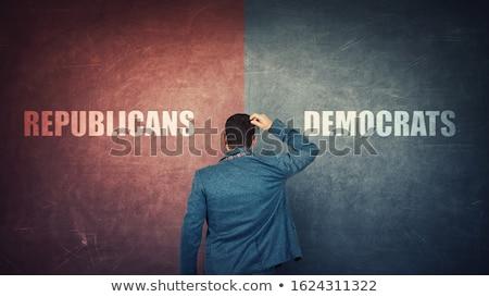 Democraat republikein keuze gesloten deuren afgedrukt Stockfoto © stevanovicigor