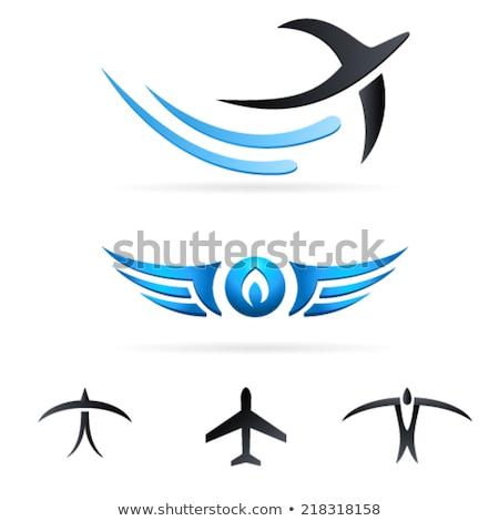飛行 鳥 空気 標識 空 デザイン ストックフォト © djdarkflower