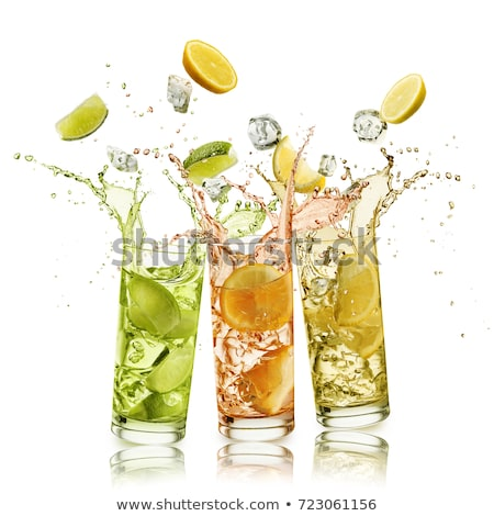 Salpico vidro água fruto bubbles cair Foto stock © wime
