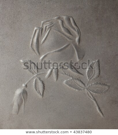 bas-relief depicting roses on  metal Stock photo © ddvs71