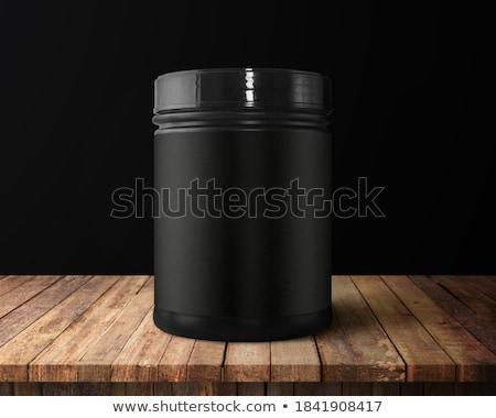 黒 · 空っぽ · 食品 · トレイ · 孤立した · 白 - ストックフォト © dezign56