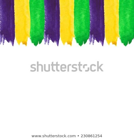 Vector Mardi Gras watercolor brush strokes Stock photo © gladiolus