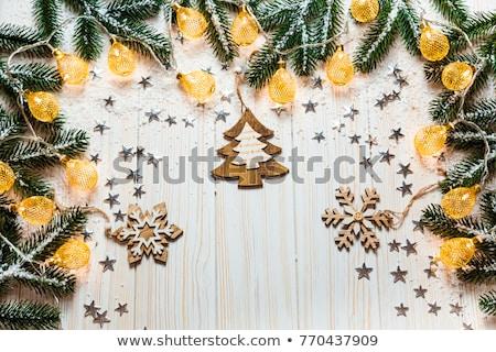 orange luminous christmas tree Stock photo © heliburcka